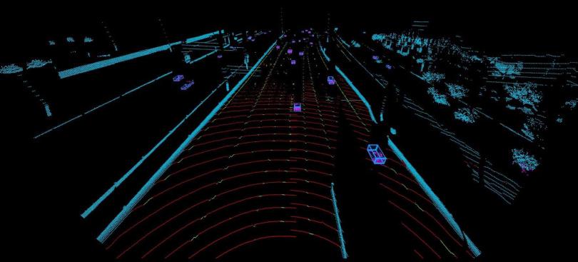 LiDAR 光學雷達感應技術可透過傳感器發射數百萬計的雷射脈衝,以 3D 掃瞄週遭環境與辨識物體。(圖/VOLVO提供)