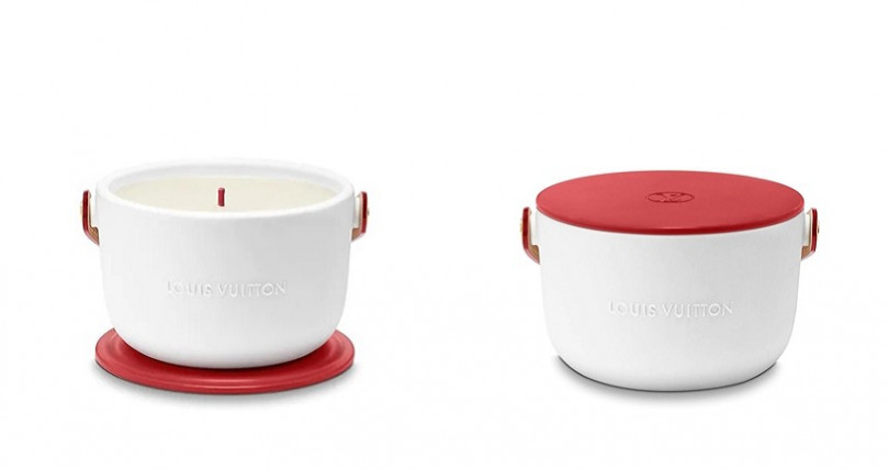 Louis Vuitton攜手RED推出Louis Vuitton I (RED)香氛蠟燭。(圖/翻攝自Louis Vuitton官網)