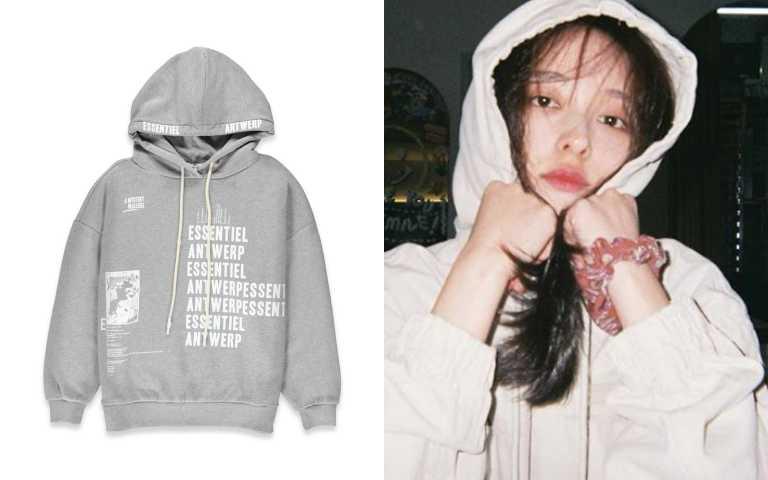 glimmer boutique灰色大學帽T/9880元(圖/IG、品牌提供)