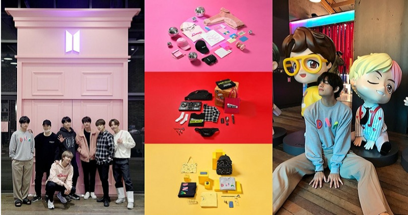 位於韓國首爾的House of BTS為期間限定店,服飾&文具系列時髦且充滿意義。(圖/防彈少年團官方推特、BIGHIT OFFICIAL MERCH官方推特)