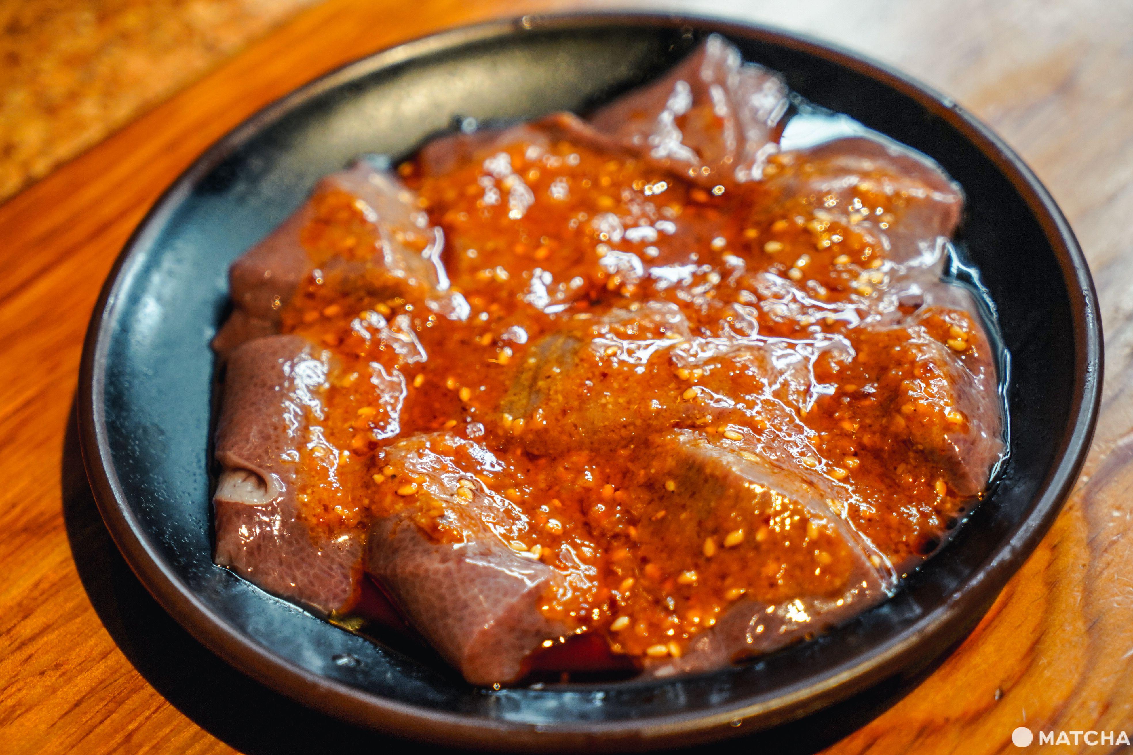 東京美食燒肉吃到飽_豪德寺ひゃくてん_吃到飽午餐方案_豬肝