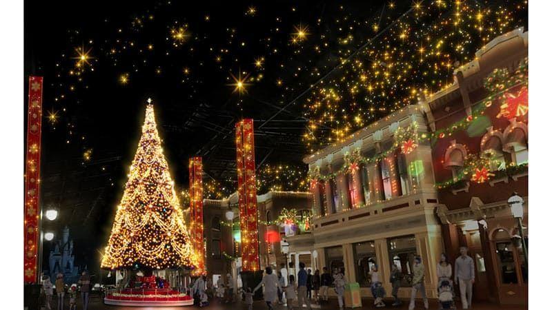 東京迪士尼樂園聖誕樹