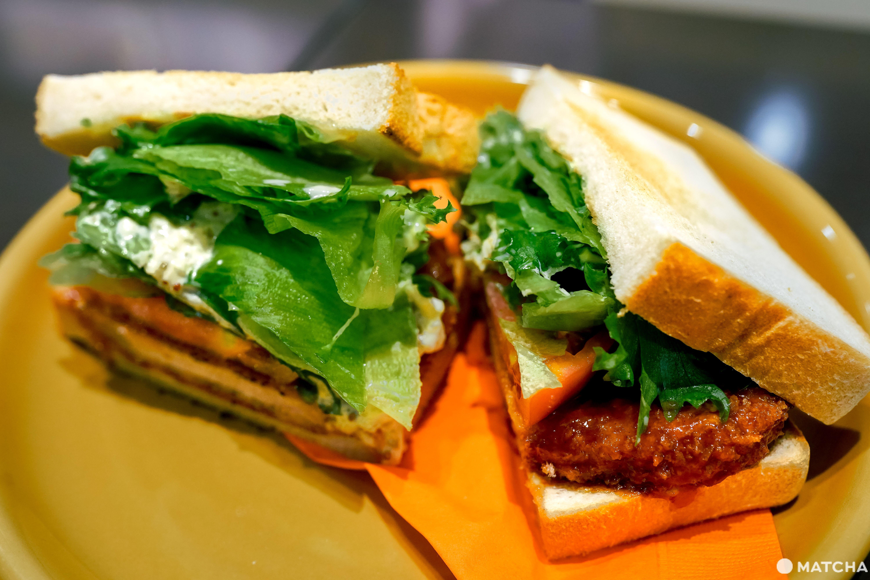 三日月屋CAFE 博多站店_塔塔醬炸豬排三明治