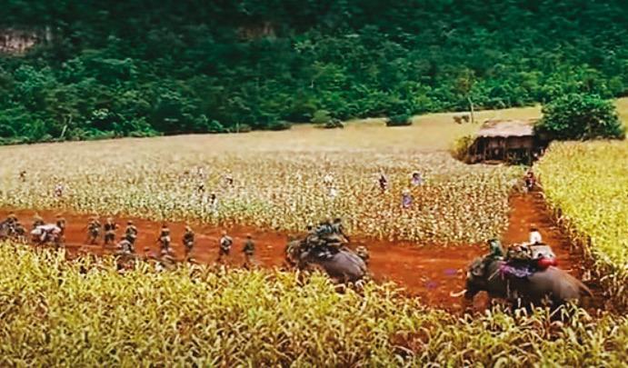 金三角種植大規模罌粟花,面積竟比高雄市還大,當地反叛軍還採契作方式保證收入,讓毒品源源不絕流向全球各地。(翻攝電影《門徒》官方劇照)