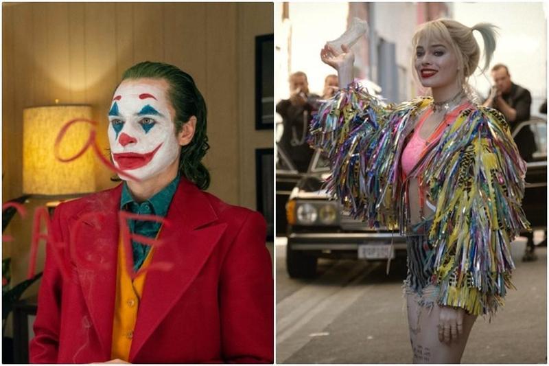 《小丑》瓦昆菲尼克斯(左)影帝呼聲最高,瑪格羅比(右)也入圍最佳女配角,但小丑還是碰不到小丑女。(華納提供)
