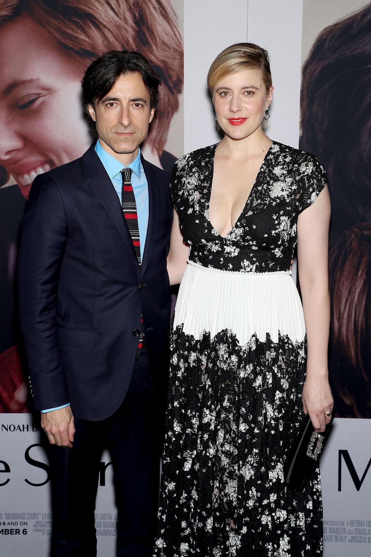 《婚姻故事》導演諾亞波拜克(左),《她們》導演葛莉塔潔薇,兩人作品在奧斯卡加起來有12項提名,堪稱是才子佳人。(Netflix提供)