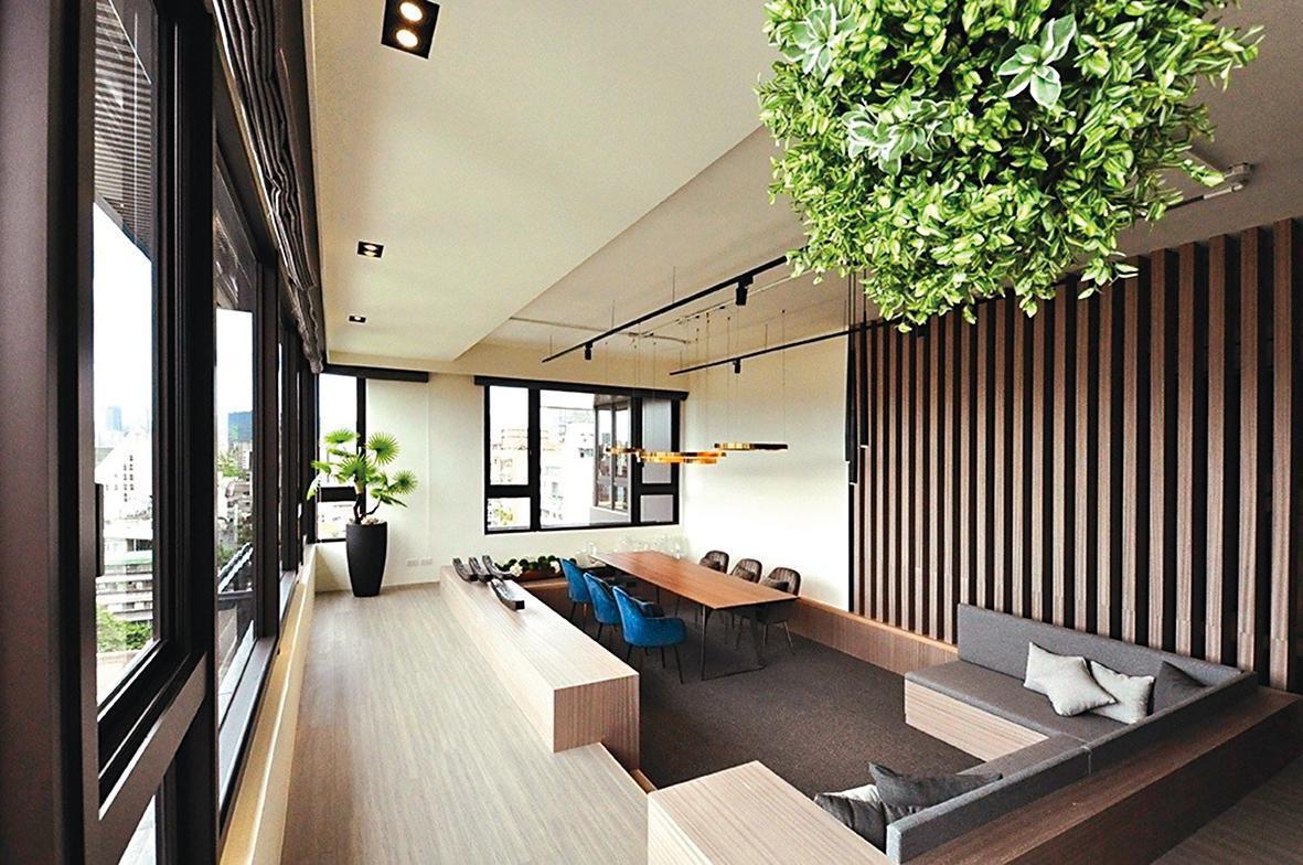 ↑ 「青田青」豪宅內部十分高檔,也是有名的綠建築。(翻攝自青田青臉書)