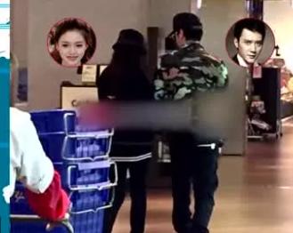 馮紹峰與前女友林允交往時,始終不認戀情,2016年兩人被讀者目擊在上海超市一起購物。(翻攝自網路)