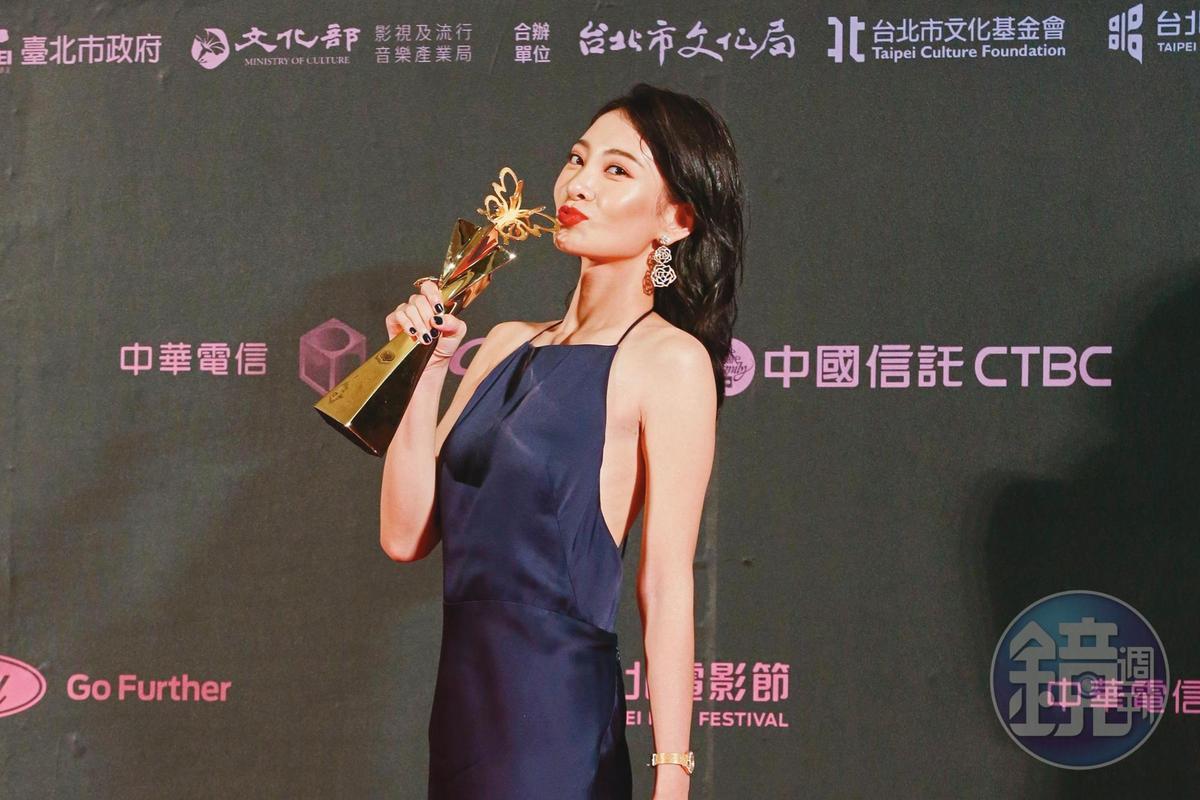 李亦捷因《野雀之詩》獲頒台北電影獎最佳女主角。