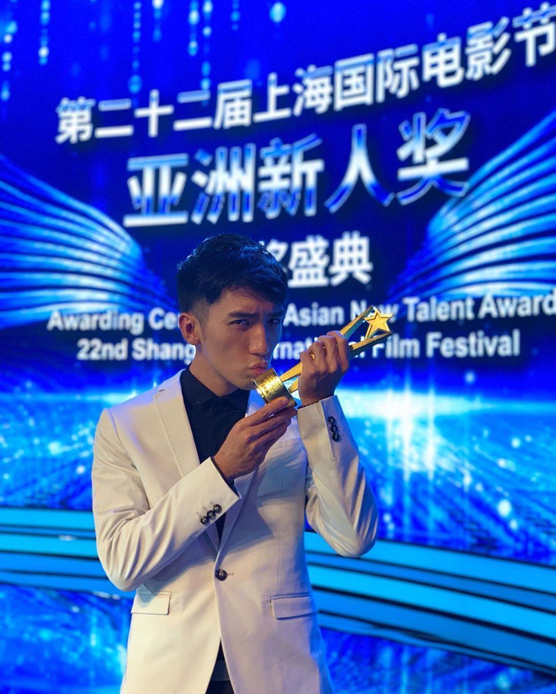 早前原騰已憑《樂園》獲得第22屆上海國際電影節亞洲新人獎最佳男演員。(翻攝自原騰IG)
