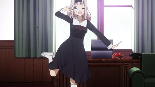 《輝夜姬想讓人告白》第三集片尾,藤原千花突然跳起「書記舞」,讓本作評價翻新高。