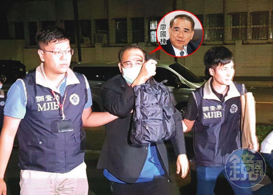 國民黨立委廖國棟(左)多次替李恆隆發聲,並收下數百萬元賄款。