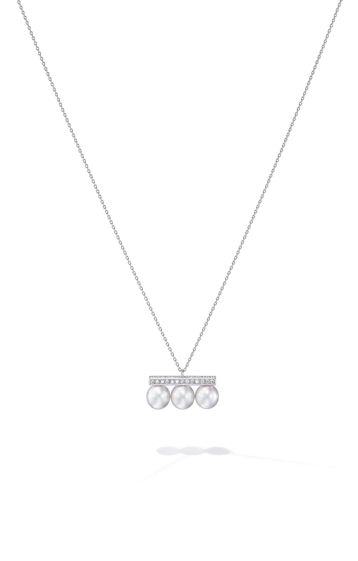 balance neo diamonds pave項鍊。NT$181,000。(TASAKI提供)