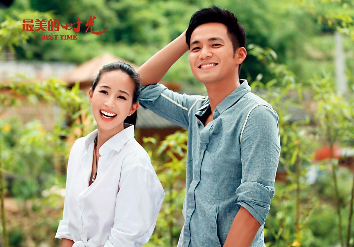 張鈞甯近年在中國大陸演出不少作品,在《最美的時光》與鍾漢良(右)組成最強CP,圈粉無數。