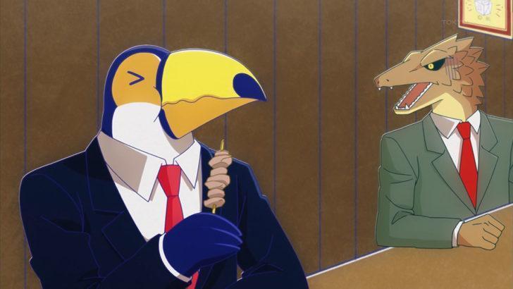 下野紘配音的巨嘴鳥個性扭曲,風流成性,更是知名的路躁症患者。