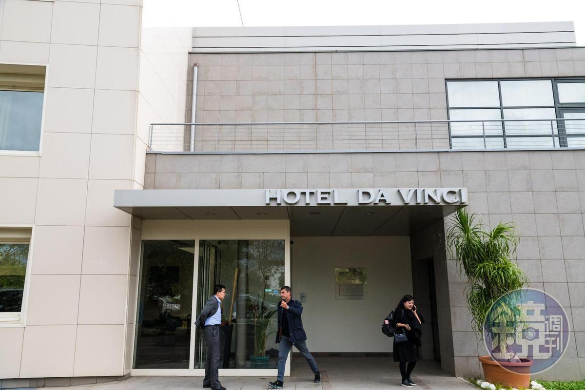 以達文西為名的「Hotel da Vinci」距離達文西出生地芬奇不遠。