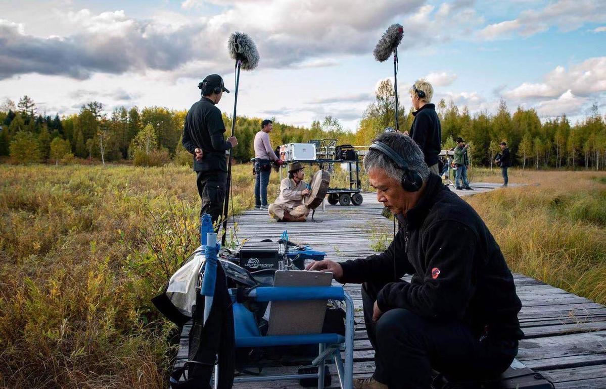 為了工作湯湘竹常去人跡罕至的地方,今年遠赴內蒙大興安嶺拍攝大陸電影《莫爾道嘎》。(湯湘竹提供)
