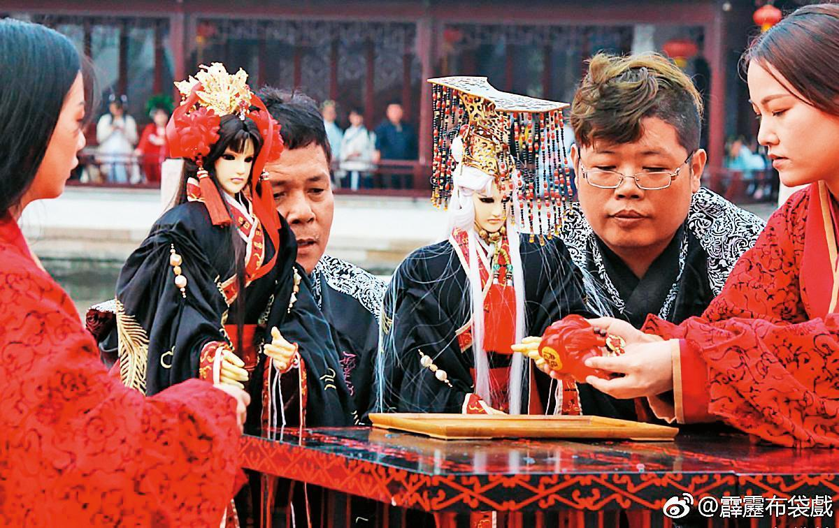 2017年霹靂在中國大陸西塘漢服節舉辦素還真、風采鈴結婚儀式,場面盛大。(霹靂國際提供)