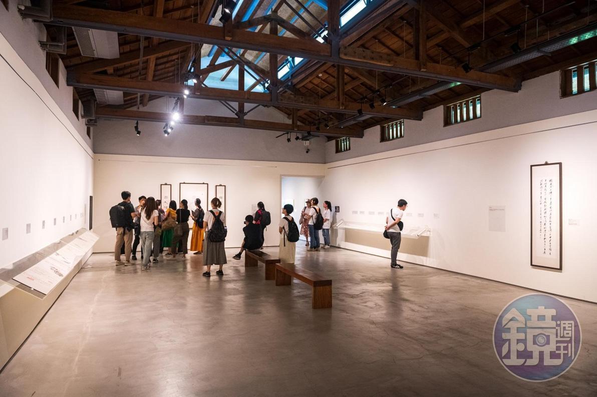 60年歷史的老穀倉,以樸素無華的空間展示臺靜農一生的精彩作品。