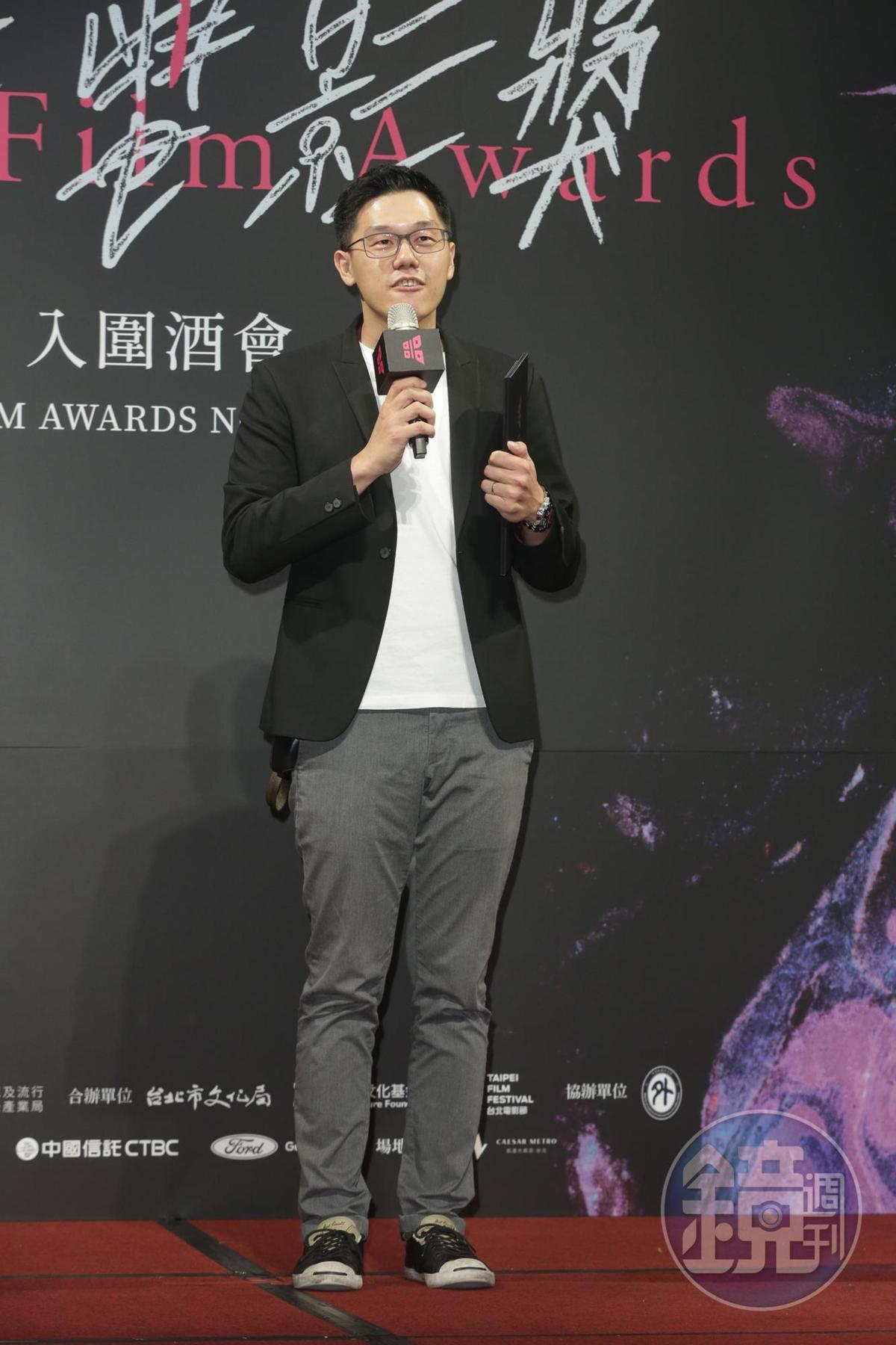 導演王威翔以鏡文學與華文創打造《驚悚劇場》的《肇事者逃逸》短片,得到「尚映完片保險短片獎10萬元的獎勵金。