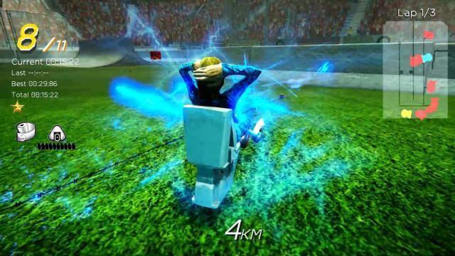 賽道上也會有路障,玩家要小心前進。(翻攝Steam)