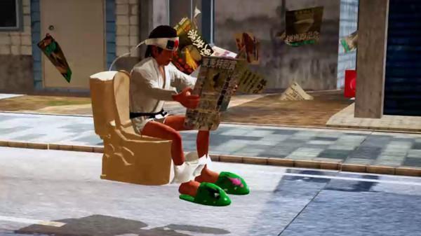 玩家要坐在自己的馬桶上 ,與世界各地好手進行馬桶競速比賽。(翻攝Steam)