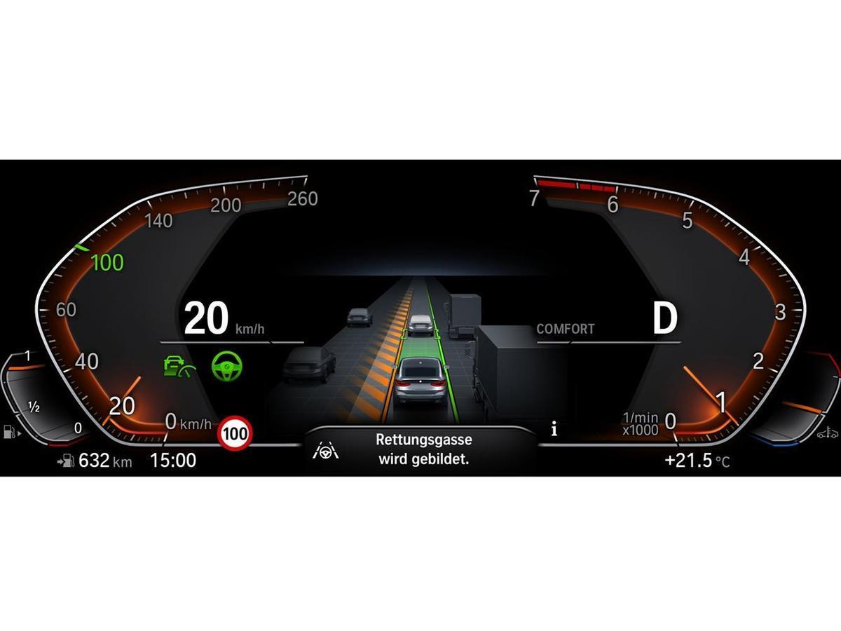 升級道路虛擬實境顯示功能,清楚顯示車輛周圍的狀況於儀錶中央區域並搭配速限提示功能,給予車主最全面的安全防護。