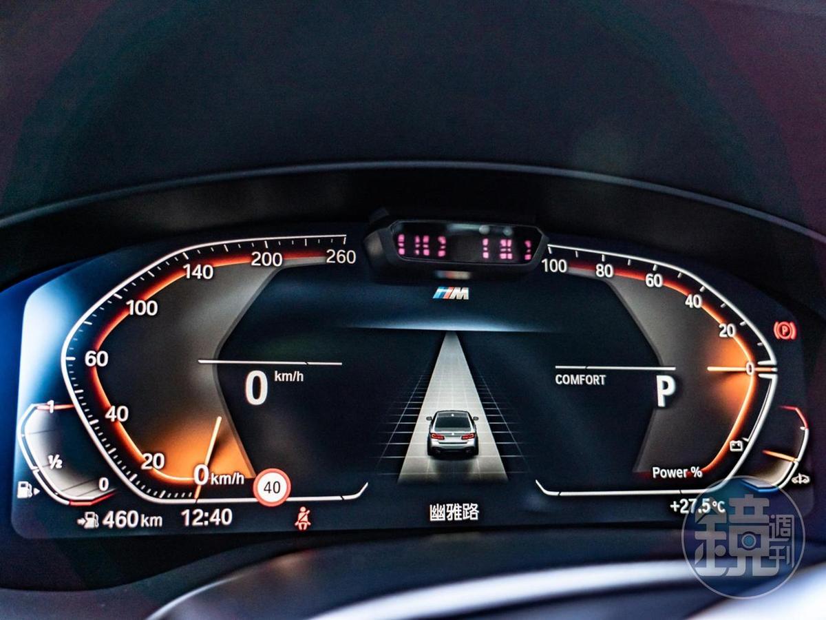 12.3吋高解析度螢幕整合全數位虛擬儀錶。