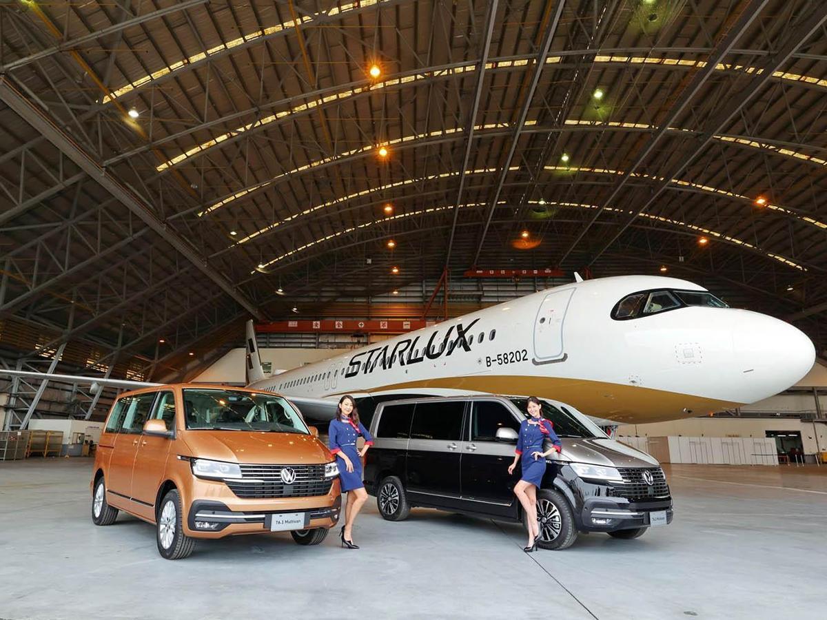 全新T6.1 Multivan找來星宇航空,打造全台最高的新車發表會,搶搭異業合作風潮。
