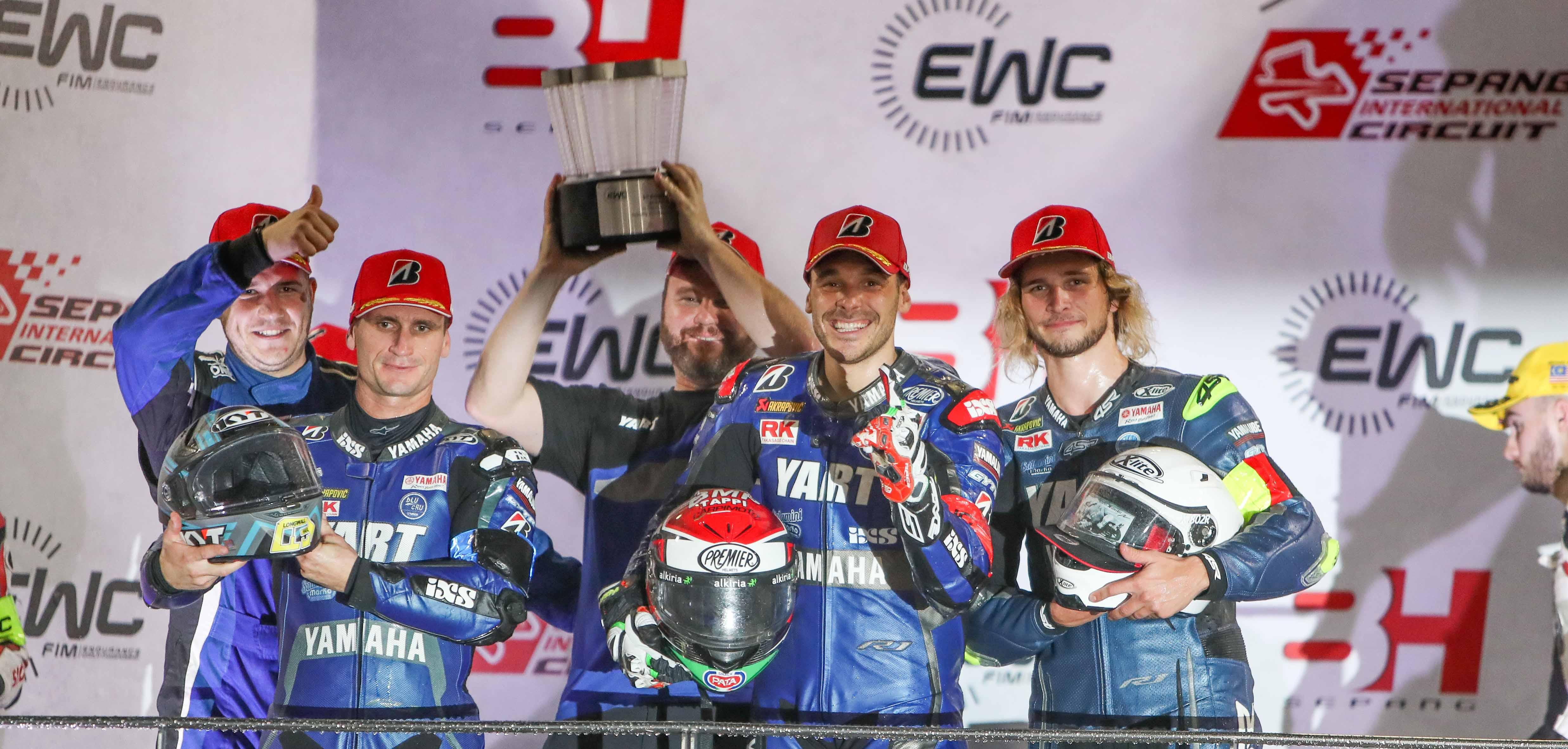 Fim_Ewc_8h_Sepang_2019_YART Yamaha, Fritz Marvin, Canepa Niccolo, Parkes Broc, Yamaha YZF R1, Formula EWC