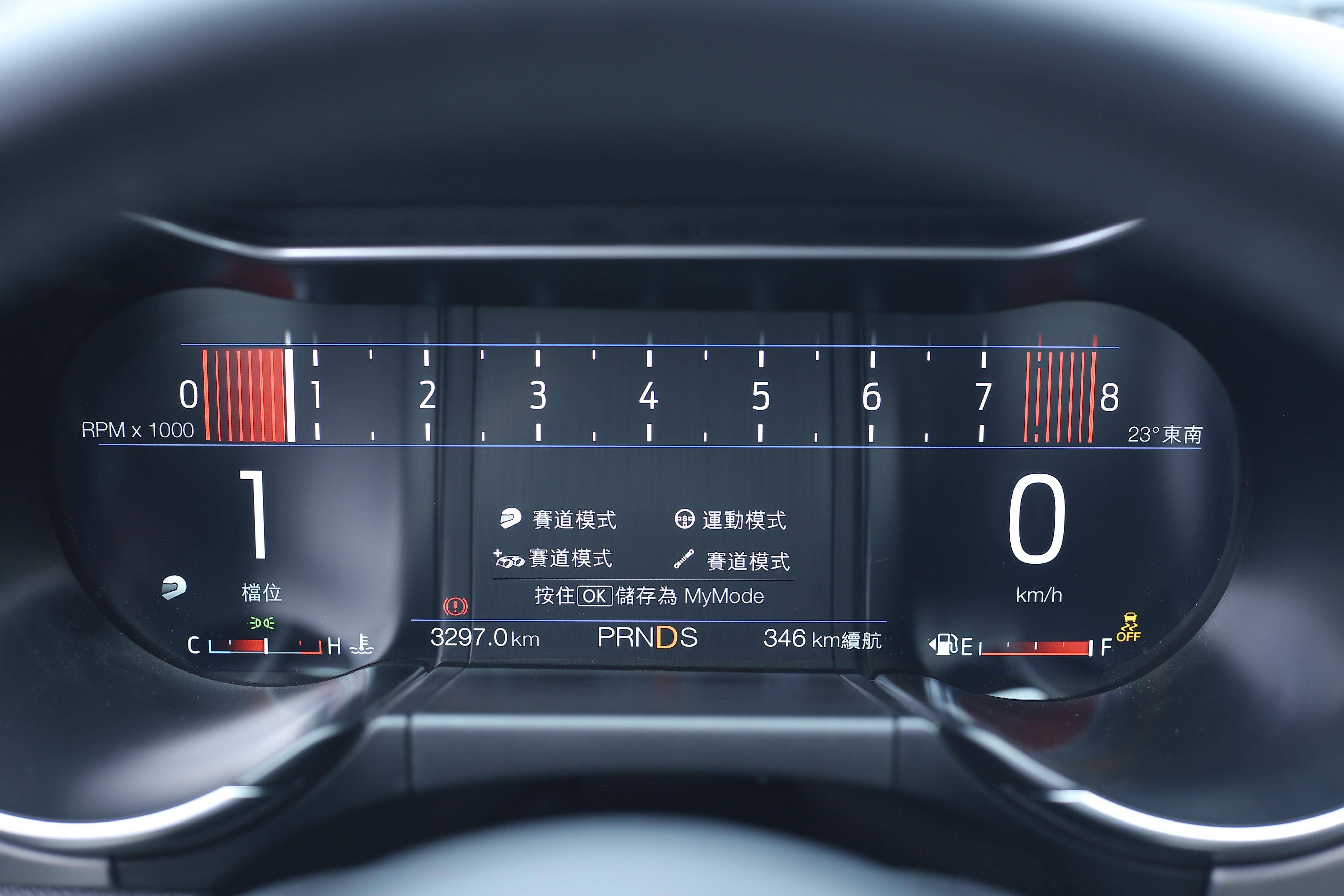 兩車款儀表顯示模式皆會依據行車模式有所變化。