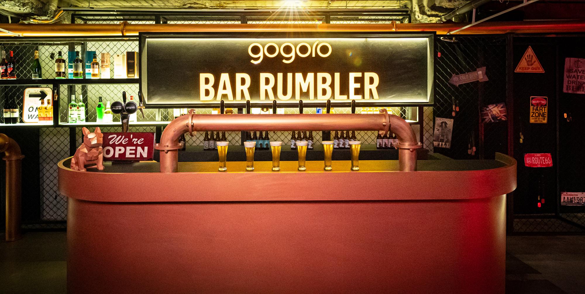 Gogoro 此次特別打造台北街頭的隱藏美式酒吧 - BAR Rumbler ( 濕地 - 台北市中山區林森北路 107 巷 10 號 B1 )。