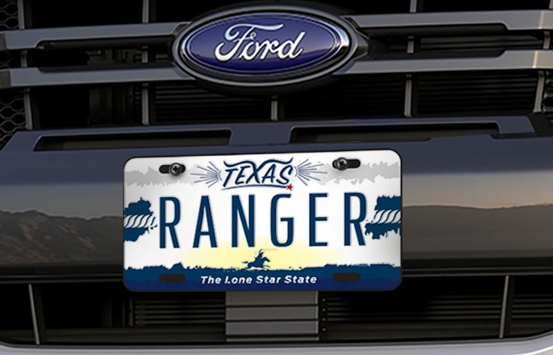 Ford Ranger Texas Edition 德州騎兵版之德州騎兵紀念車牌。