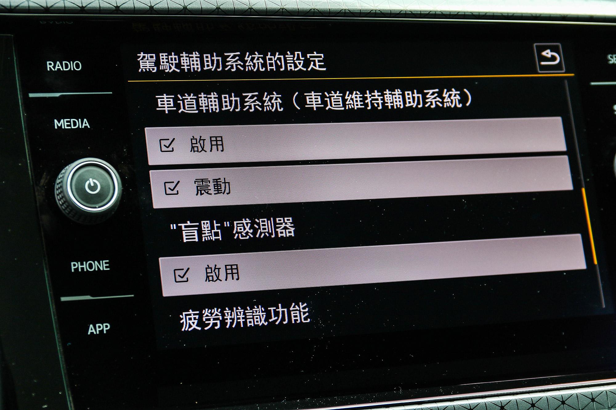 車道維持輔助系統需要 Style Design 車型以上才是標配。