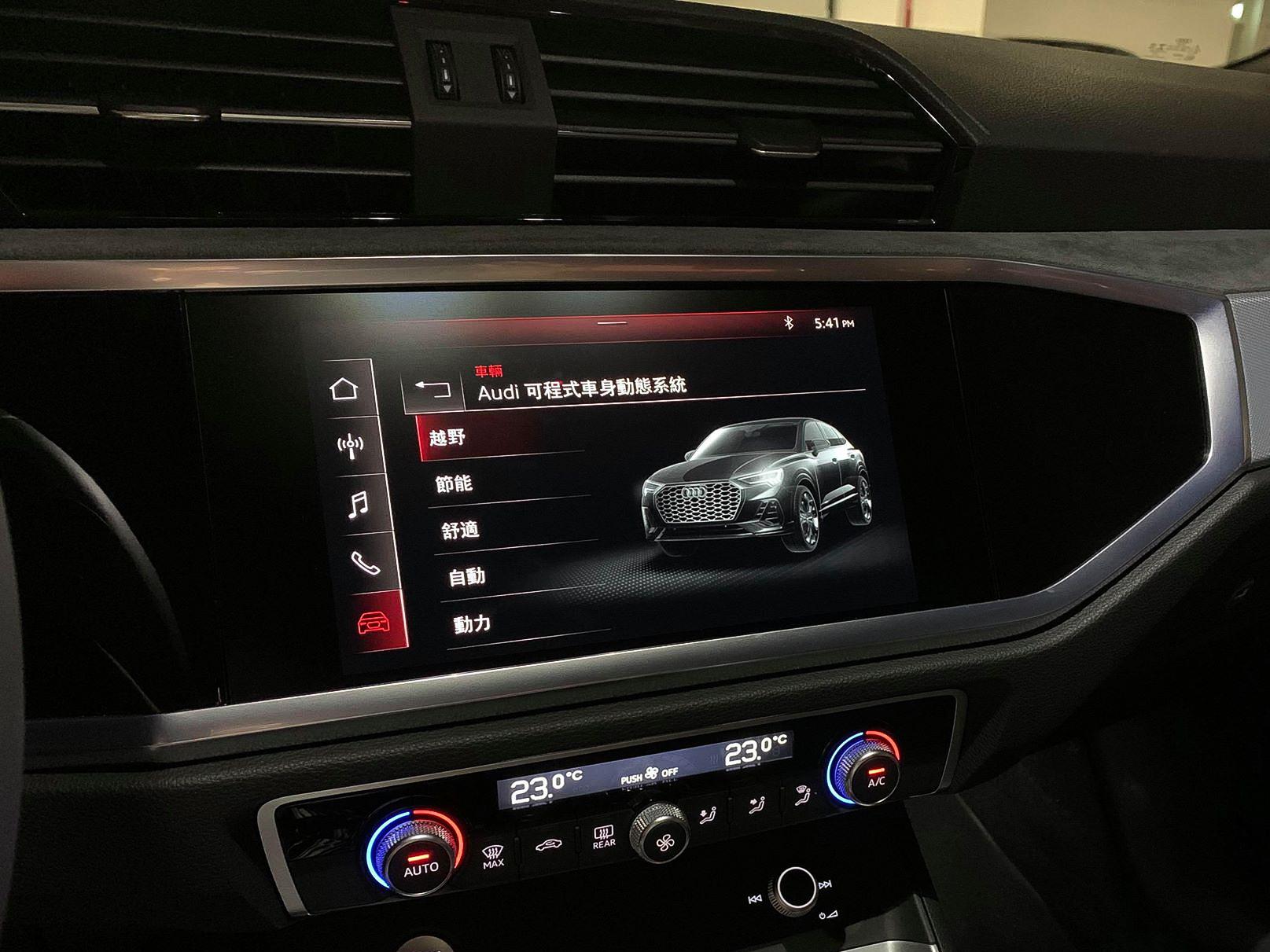 提供六種包含越野、節能、舒適、自動、動態與個人化等駕駛模式選擇。