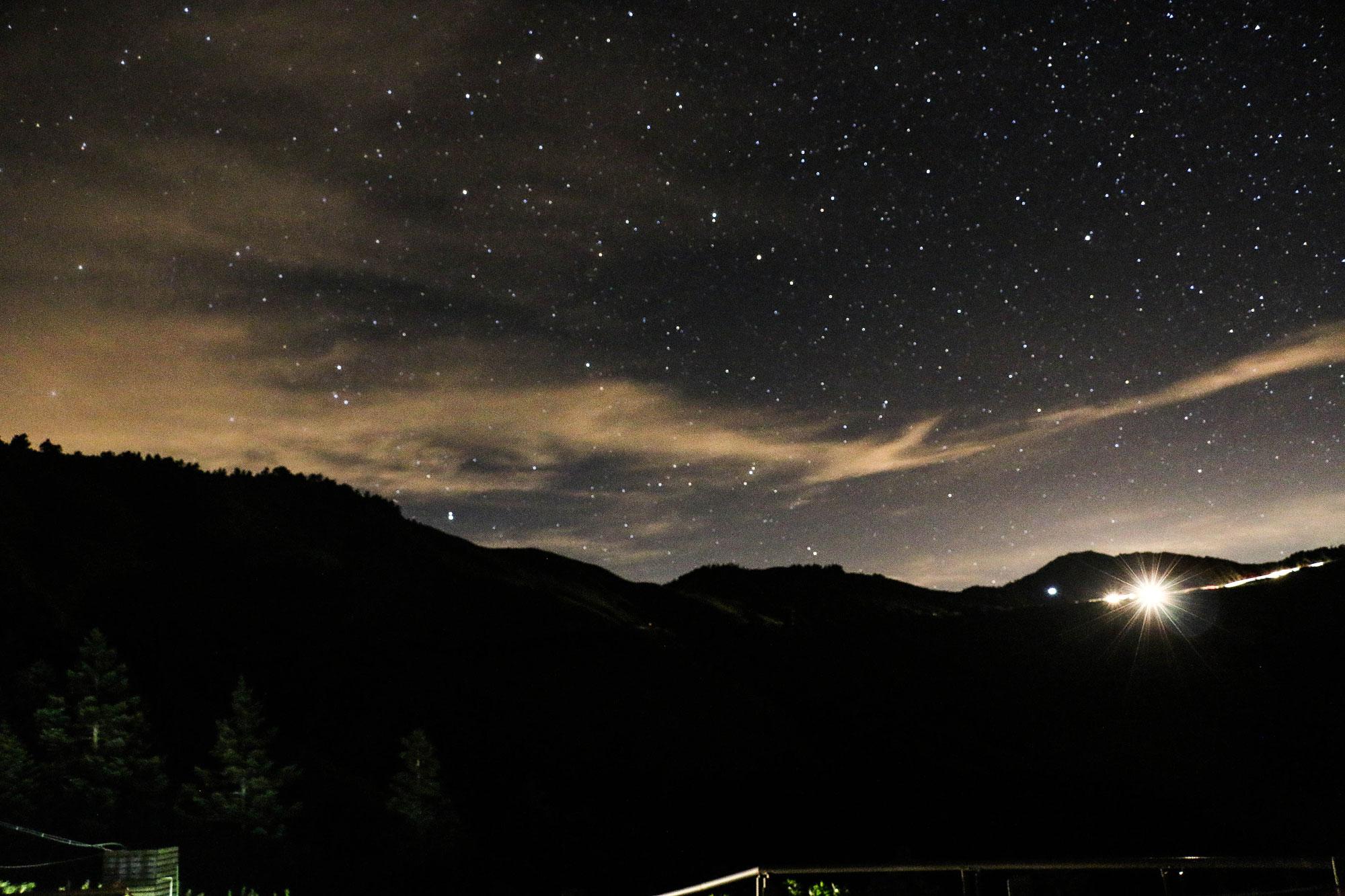 獲得國際暗天協會認證,臺灣第一座國際暗空公園合歡山的夜空,是此行的重點。