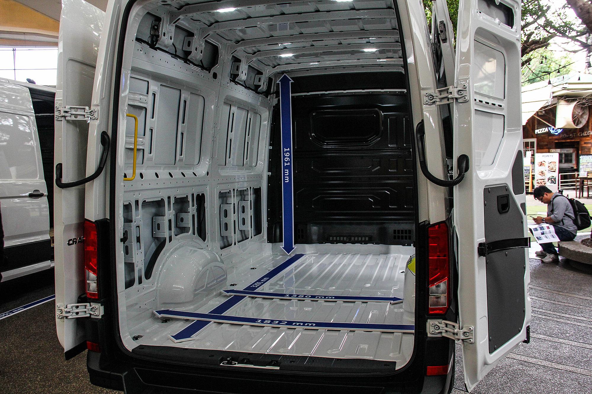 中軸高頂車型具有 11.3 平方公尺的貨艙容量。