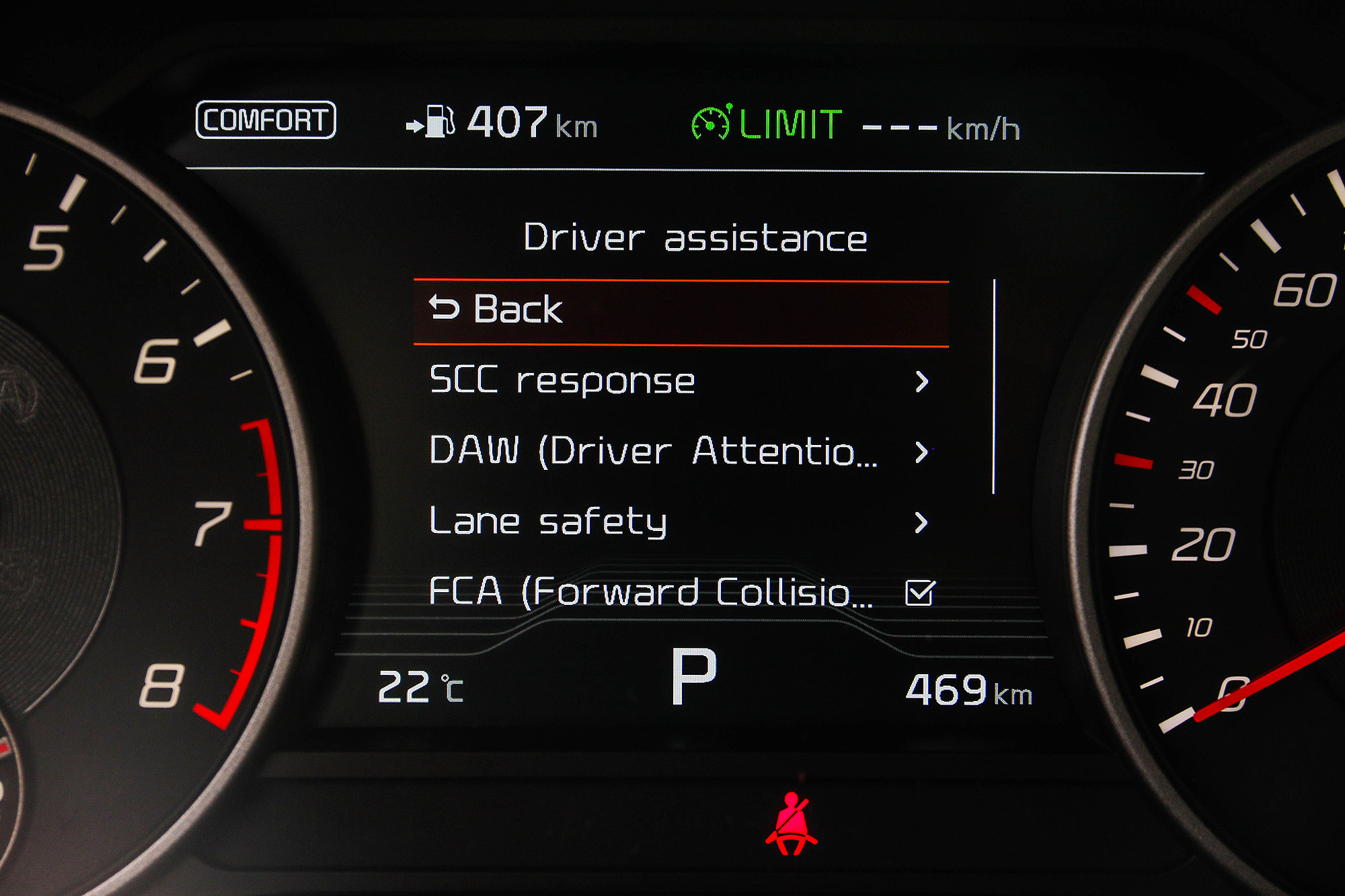 SCC ,也就是一般稱為 ACC 的主動車距控制巡航系統升級為標配。