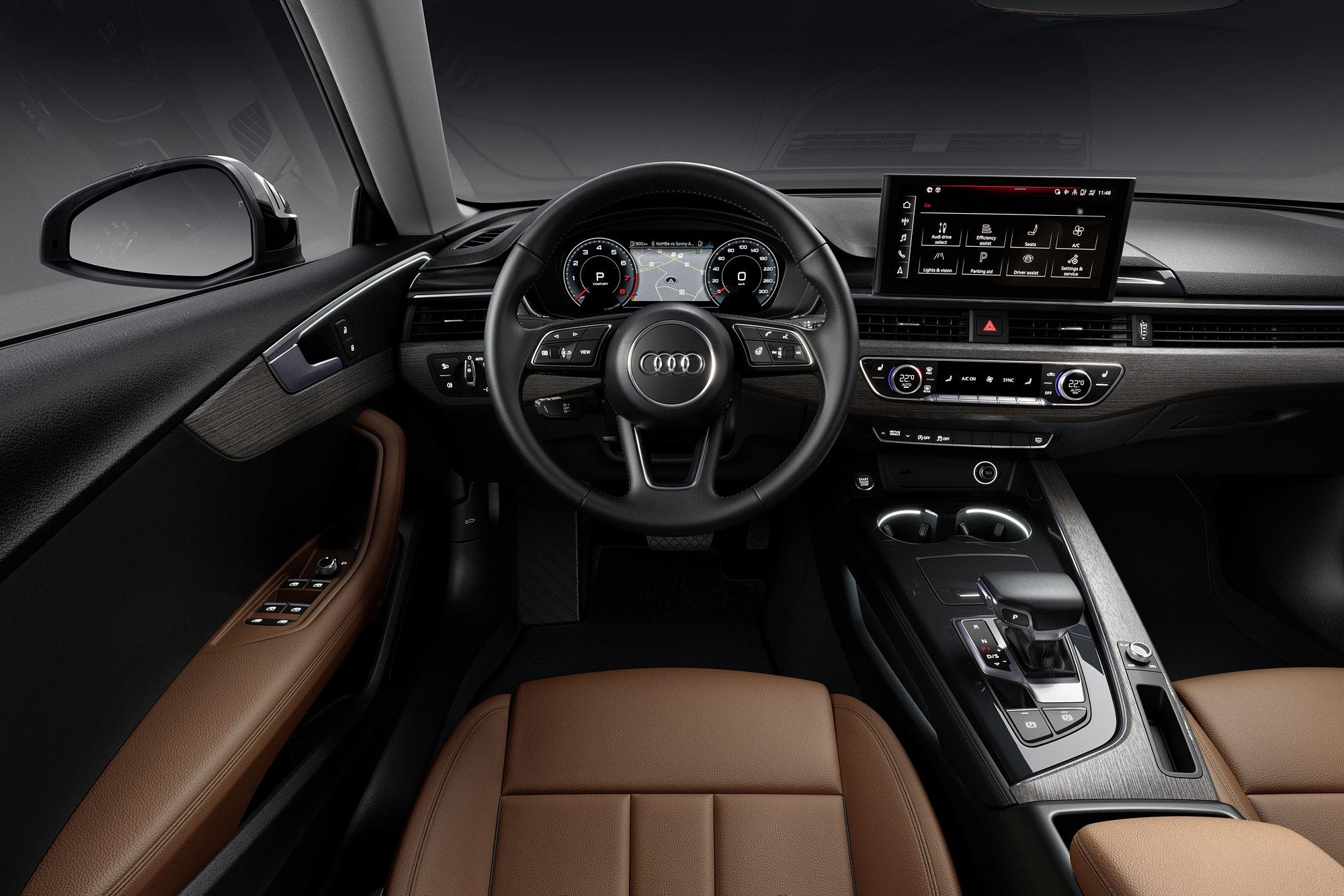 中控台螢幕升級為 10.1 吋觸控螢幕,並且引入 MMI Touch 版本。