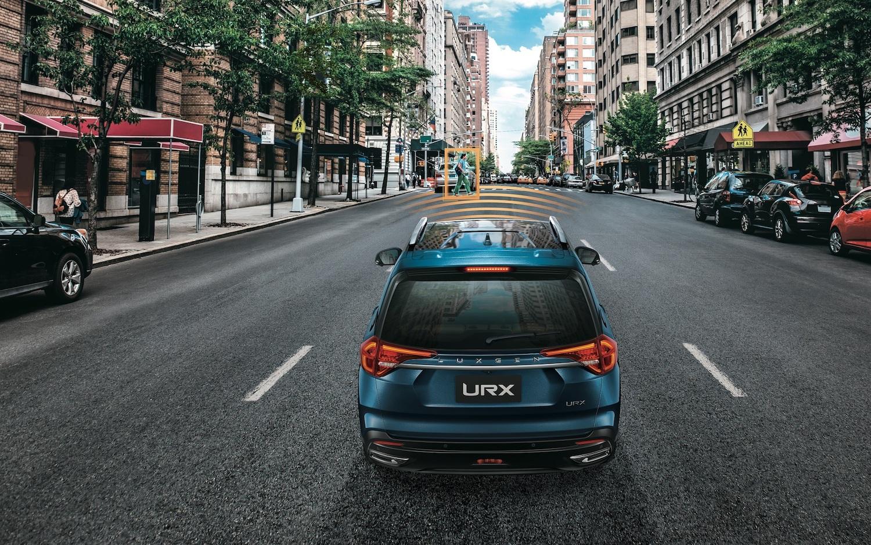 Luxgen URX 結合 ARD 擴增實境抬頭顯示系統的 ADAS 先進駕駛輔助系統,包含有 ACC 主動車距巡航系統、AEB 自動煞車輔助系統,以及 LDWS 車道偏移警示系統等。