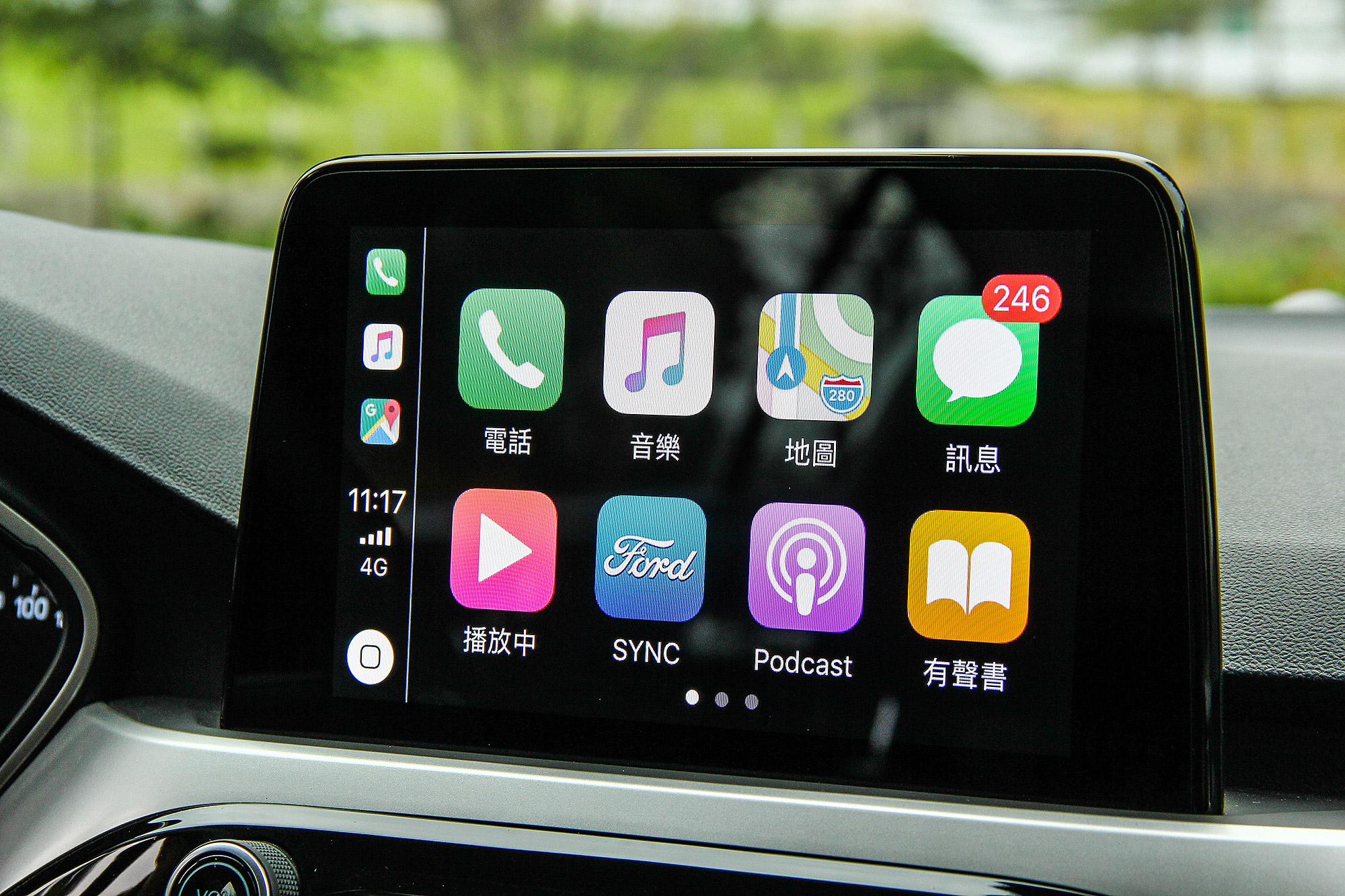 支援 Apple CarPlay 智慧型手機連結。