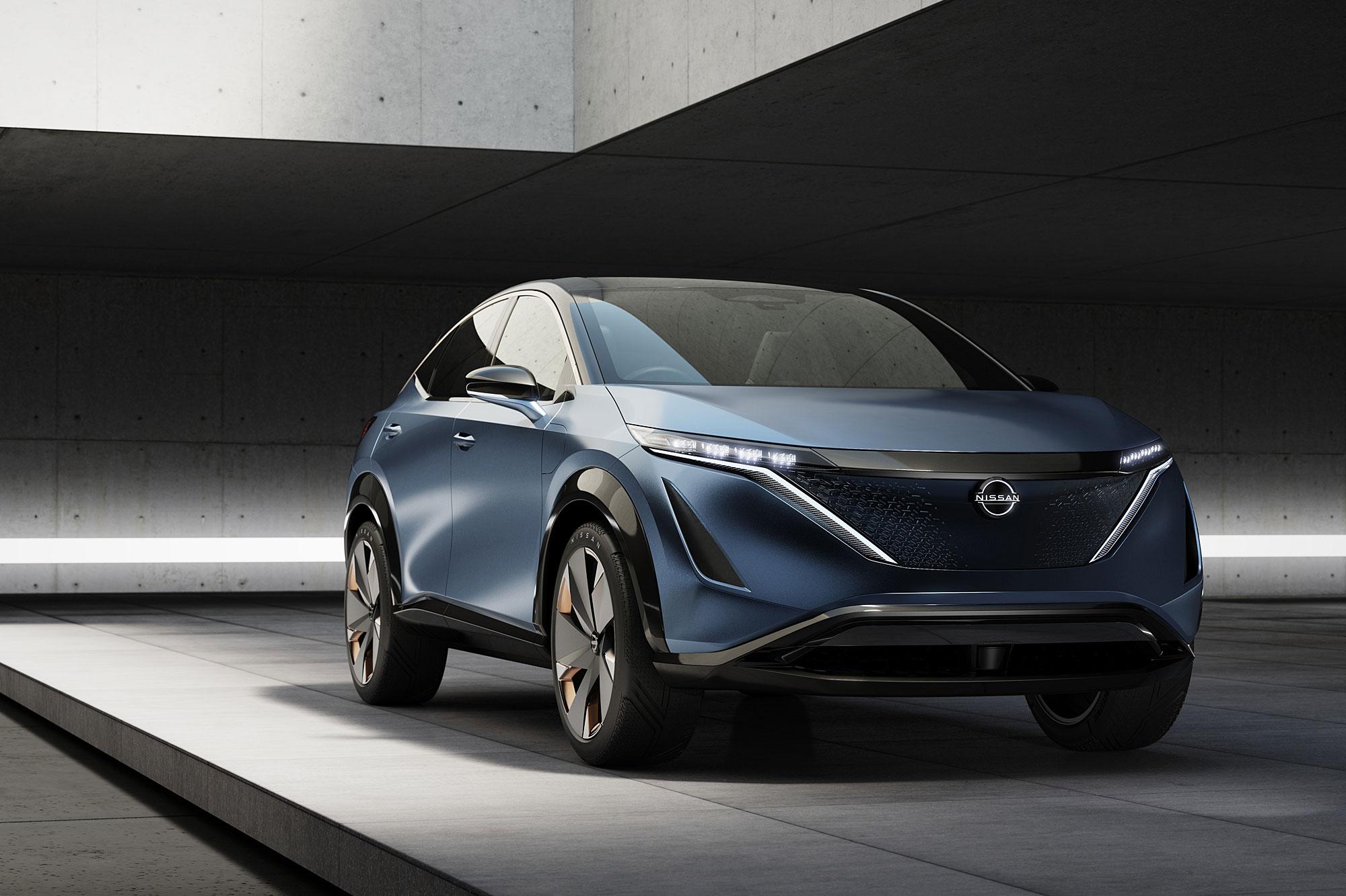 Nissan 於 2020 CES 展中發表 Ariya 概念車。