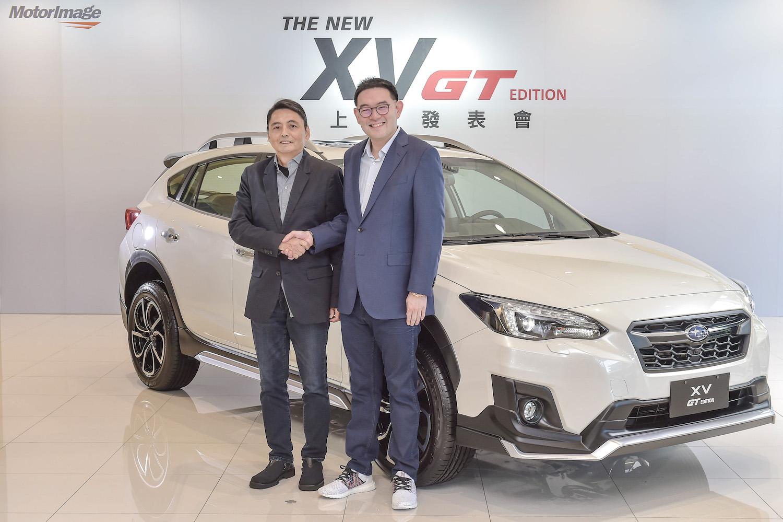 全新 XV GT Edition 係由陳唱集團副董事長兼任董事總經理陳駿鴻先生(圖右),延攬前 Subaru 全球先進設計總監小林正彥 Masahiko Kobayashi(圖左)先生操刀設計,也是意美汽車集團與日本 Giken Co. Ltd 技研株式會社共同打造的首款作品。