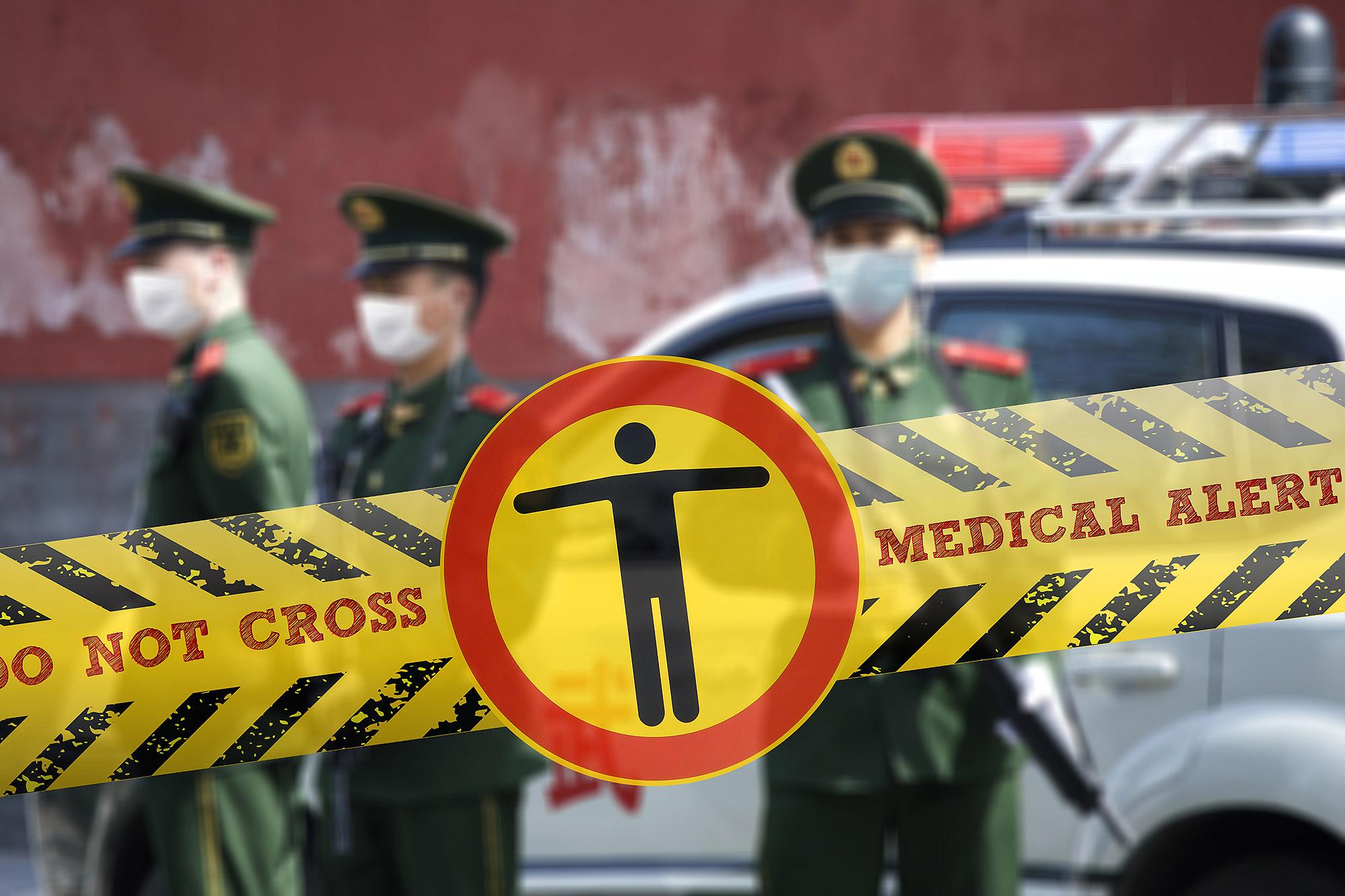 全中國有超過百座城市實施封閉式管理。