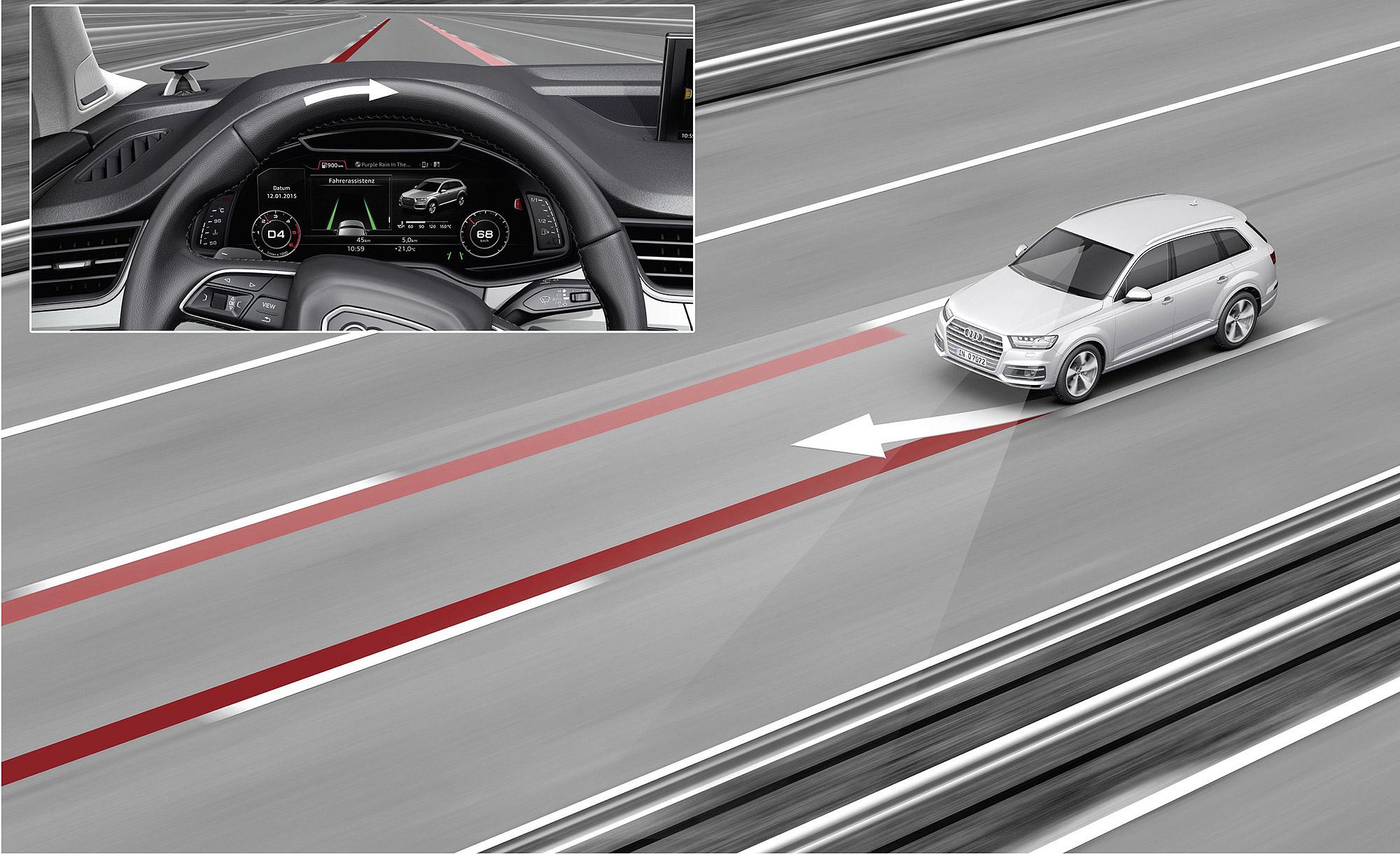 Audi Side Assist 主動式車道維持與及偏離警示系統目前已大量配置在 Audi Taiwan 旗下的產品之中。