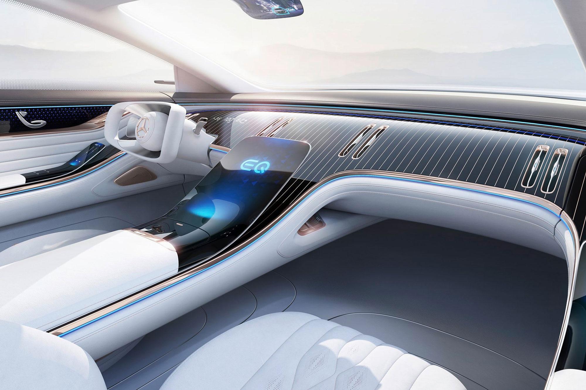 Vision EQS 的中控台設計有望影響下一代的 S-Class 。
