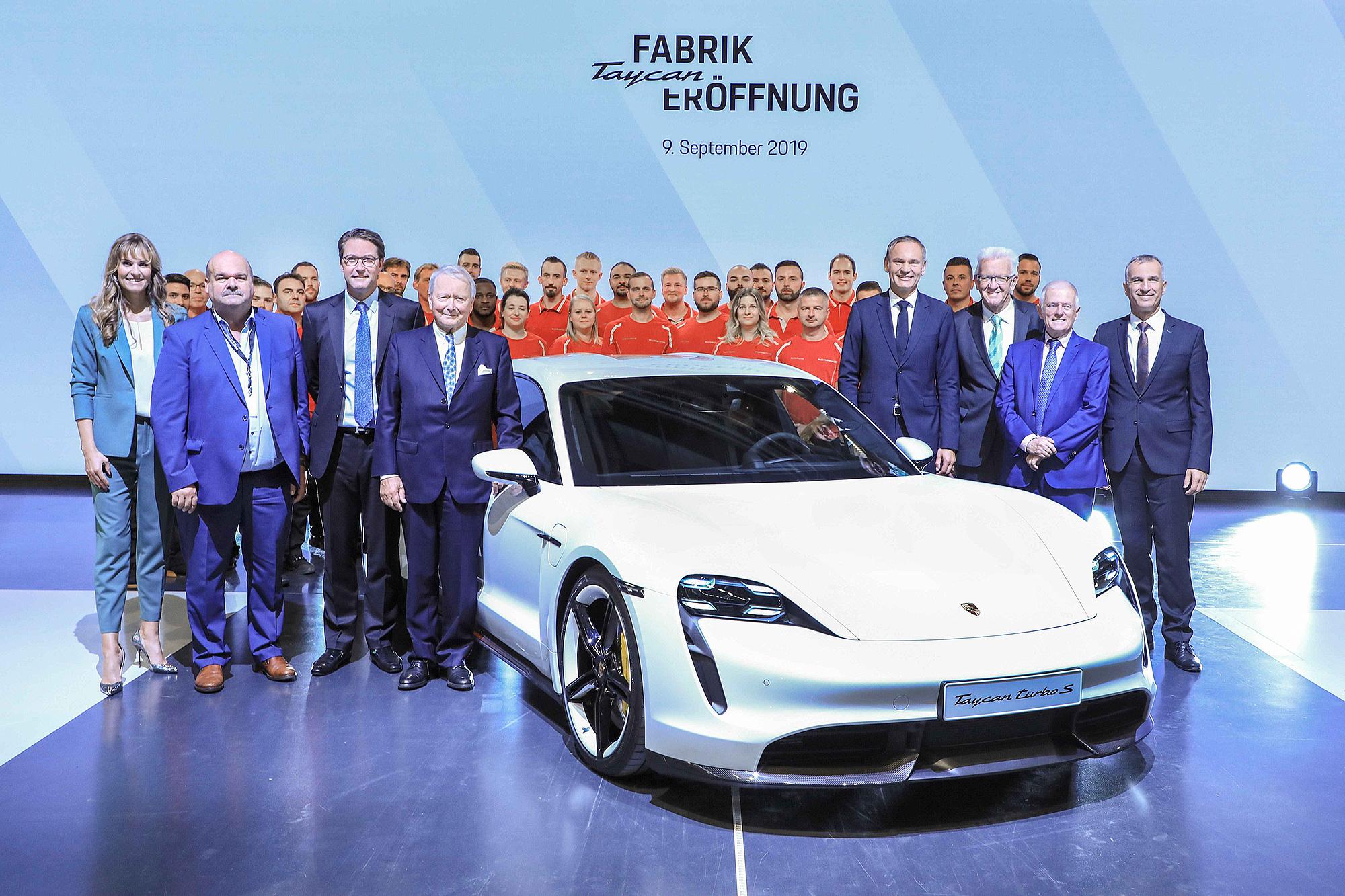 Porsche 為 Taycan 闢建的新廠區於上週正式揭幕