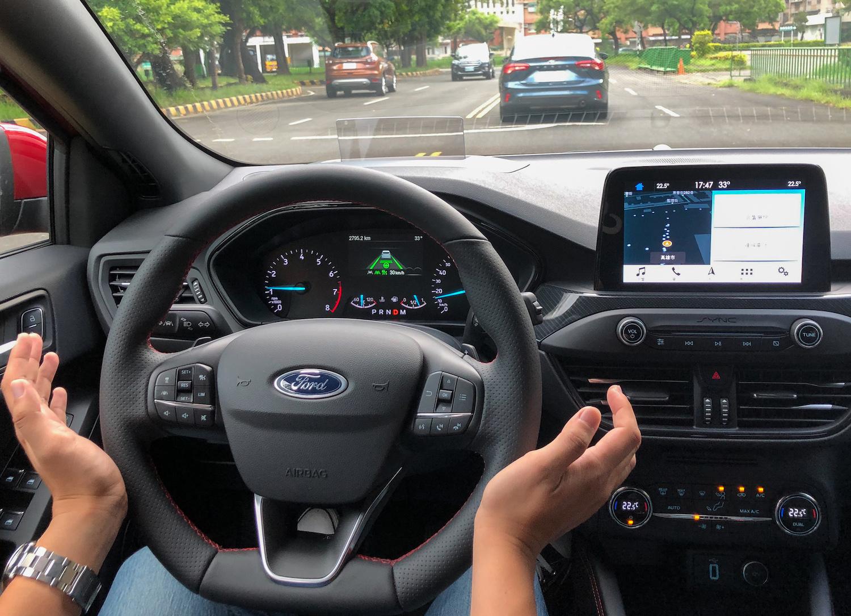ACC Stop & Go 全速域主動式定速巡航調節系統等 Ford Co-Pilot360™ 全方位智駕科技輔助系統帶來的安全與便利性。