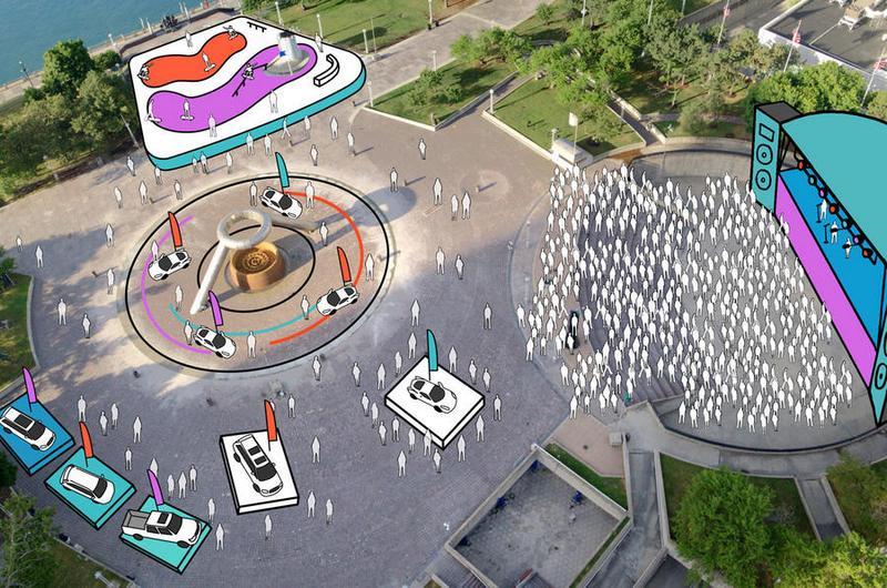 未來北美車展場地將延伸至場外,並結合周邊活動打造如慶典的型態。