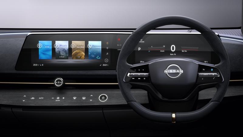 所有資訊都可從螢幕觀看,空調系統則整合至飾板內以觸控操作。